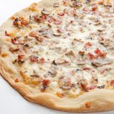 Pizza fina carbonara